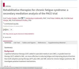 MECFS Blog: Analysis Of Today's Update on PACE Trial for CBT and GET